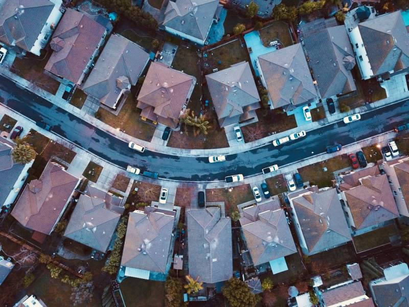 Ariel view of houses header image