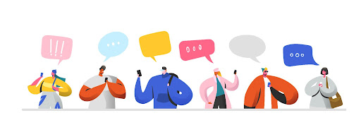 Animated confused speech bubbles